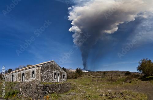 Staande foto Vulkaan eruption etna
