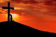 Leinwandbild Motiv Christian background - Desperation