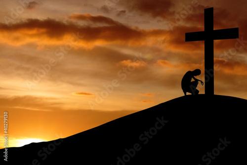 Fotografie, Obraz  Christian background - Confession
