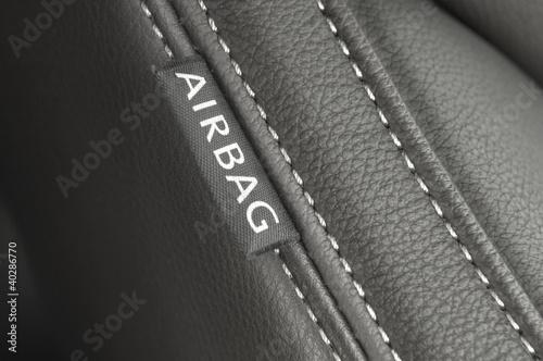 airbag textile tag Canvas Print