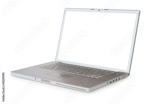 Fotografie, Obraz  Laptop with clipping path for screen