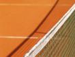 canvas print picture - Tennisplatz Netz und Schatten 14