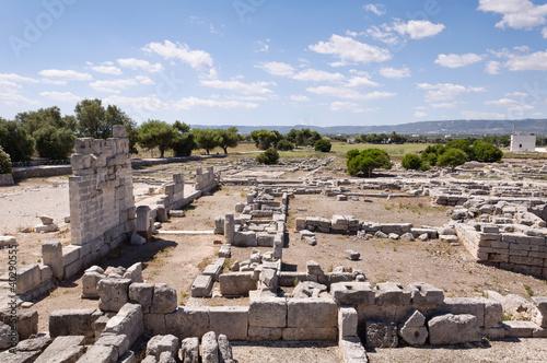 Poster Ruine Roman ruins in Egnazia, Italy.