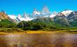 Naturlandschaft mit Fitz Roy in Argentinien, Südamerika