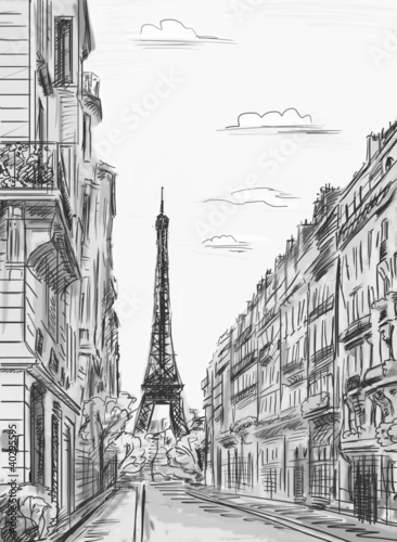 Paris street - illustration - 40295595