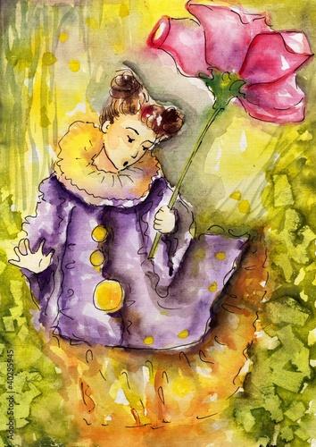 lesna dziewczyna z kwiatem - 40295945