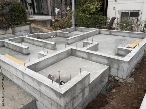 Fotografie, Obraz  住宅の基礎工事