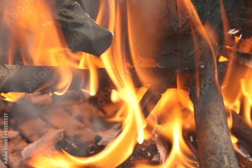 Recess Fitting Firewood texture grill flame
