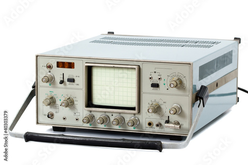 Fotografie, Obraz  Oscilloscope (isolated)