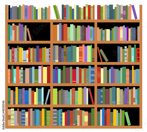 Foto op Canvas Bibliotheek Isolated bookshelf