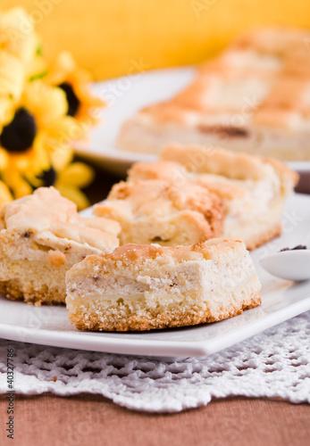 Fotografia, Obraz  Ricotta Cake. Crostata di ricotta.