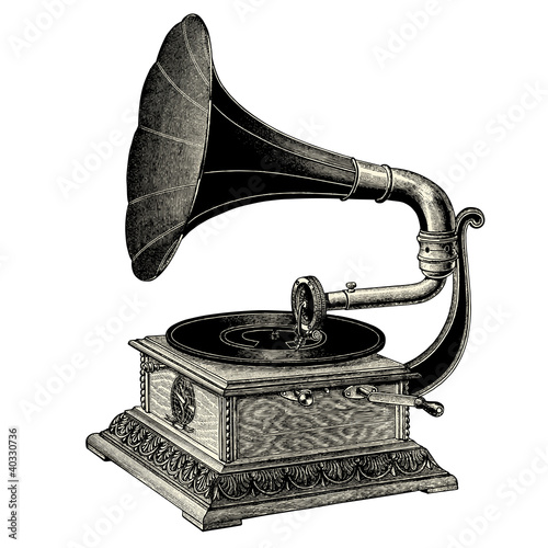 Gramophone Wallpaper Mural