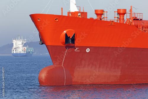 Tanker  auf der Ostsee bei Kiel Wallpaper Mural