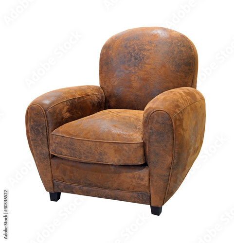 Fotografie, Obraz  Old leather armchair