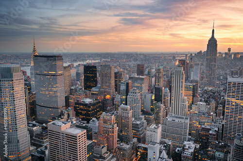 Photo  New York City sunset