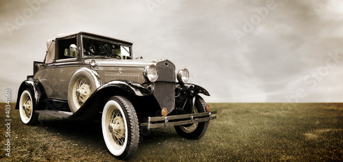 Foto op Canvas Vintage cars Retro car.