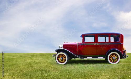Tuinposter Oude auto s Retro car.