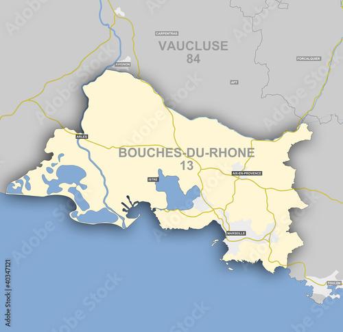 Papel de parede  Carte et situation du département des Bouches du Rhône