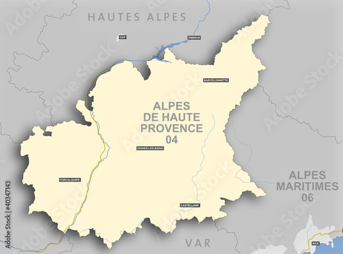 Carte Et Situation Du Département Des Alpes De Haute
