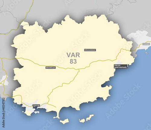 Photo  Carte et situation du département du VAR