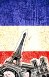 Fototapeta Paryż - drapeau france paris