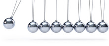 Newtons Cradle With Eight Ball...