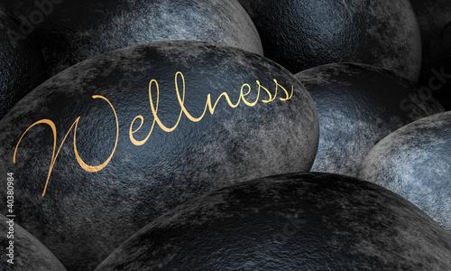 Doppelrollo mit Motiv - Schwarze Steine - Wellness