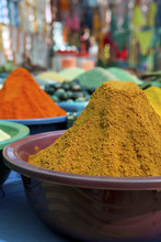 Piles Of Colorful Spices, Anju...