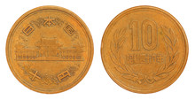 Old Japanese 10 Yen Coin Of 1953