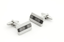 Pair Of Silver Cuff Links Over...