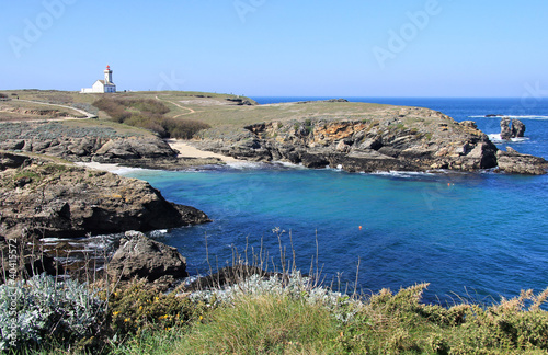 Pointe des Poulaines lighthouse Wallpaper Mural