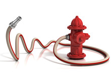 Fire Hydrant With Fire Hose 3d...