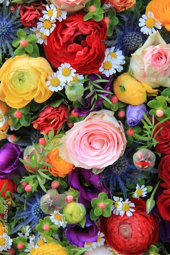 mixed summer flowers - 40420591