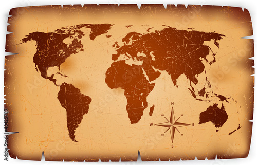 Foto op Aluminium Old paper Map