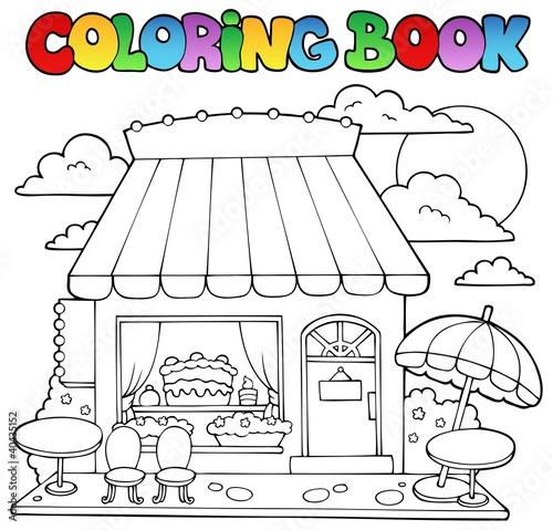 Spoed Foto op Canvas Doe het zelf Coloring book cartoon candy store