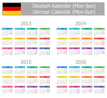 2013-2016 Type-1 German Calend...