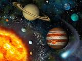 Fototapeta Kosmos - 3D Solar System