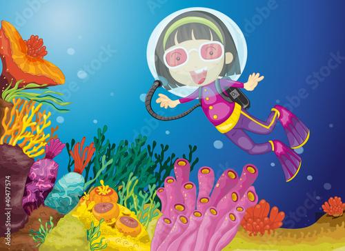 Foto op Plexiglas Onderzeeer Scuba diving