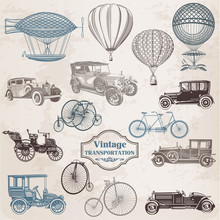 Vector Set: Vintage Transporta...