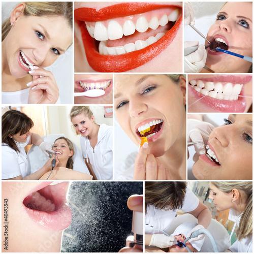 Zahnarzt und Zahn Kosmetik Collage #40493543