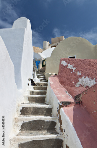 Oia village at Santorini island in Greece