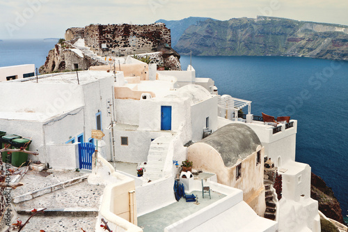 Staande foto Tunesië Village of Oia at Santorini island in Greece