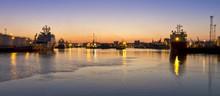 Sunset Over Aberdeen Harbour