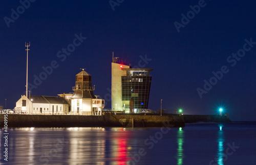 Aberdeen harbour Tower Lights Canvas Print
