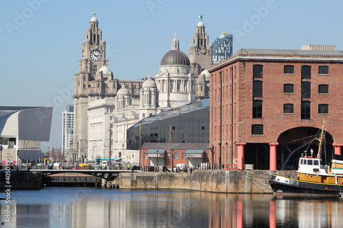 The Three Graces and Albert Dock, Liverpool