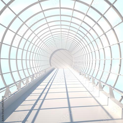 In de dag Brug Interior in Sky