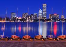 Back Bay Boston Skyline From Cambridge