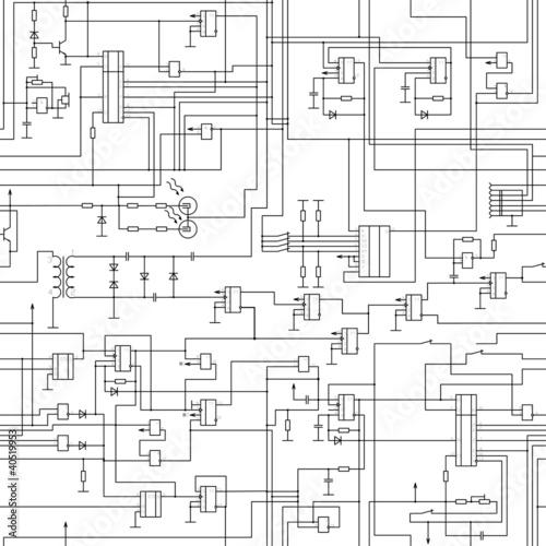 Tapety Minimalistyczne  wektor-wzor-schematu-obwodu-elektrycznego-bez-szwu