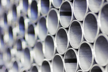 Close Up Of A Stack Of Steel P...