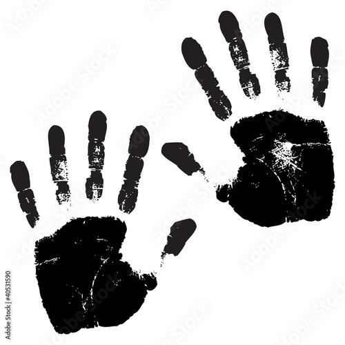 Fotografie, Obraz  hands print vector illustration